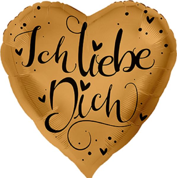 """Ich liebe Dich Folienballon 71cm 28,5"""""""