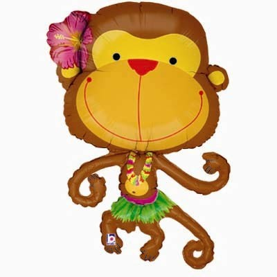 Affe Linky Monkey Folienballon - 98cm