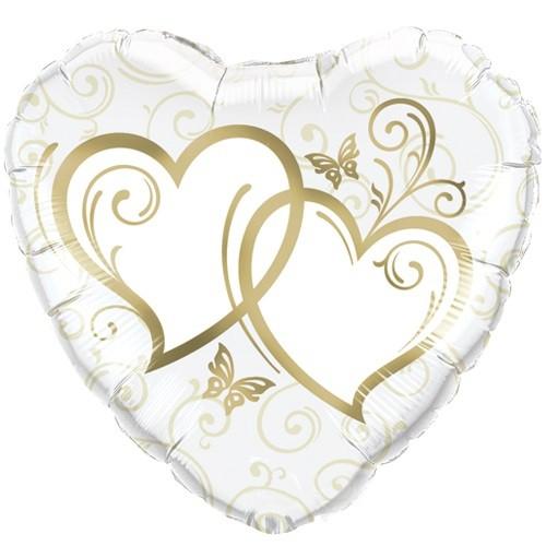 Herzen Gold Hochzeit Folienballon