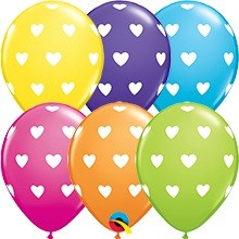 Latex Luftballons Big Hearts Tropical - 27,5cm