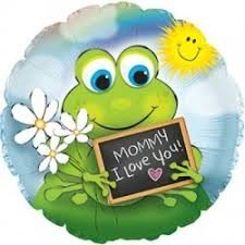 Froggie Mommy I Love You Folienballon