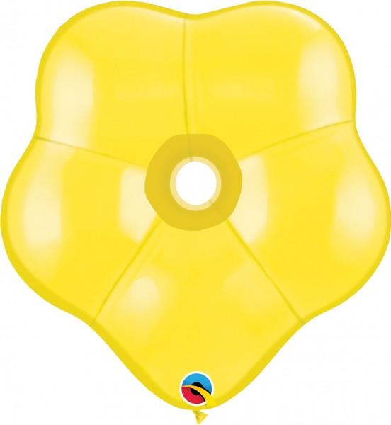 "GEO Blossom Standard Yellow Gelb 41cm 16"" Qualatex Luftballons"