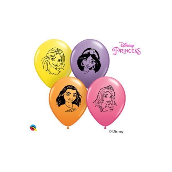 "Disney Prinzessin Gesicht 12,5cm 5"" Latex Luftballons Qualatex"