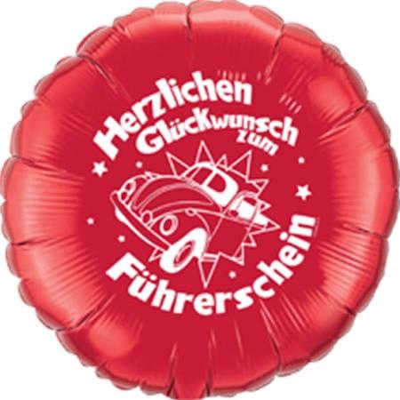 Herzlichen Glückwunsch zum Führerschein Folienballon - 45cm