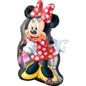 Minnie Maus mit Handtasche Folienballon
