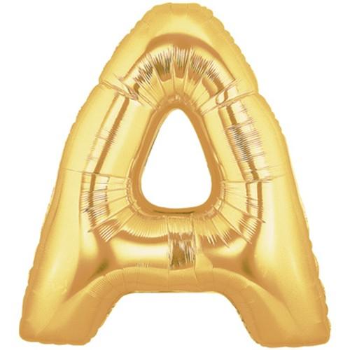 Buchstaben A gold Folienballon - 101cm