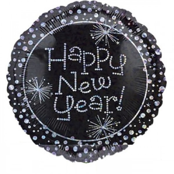 Happy New Year Sparkles Folienballon - 45cm