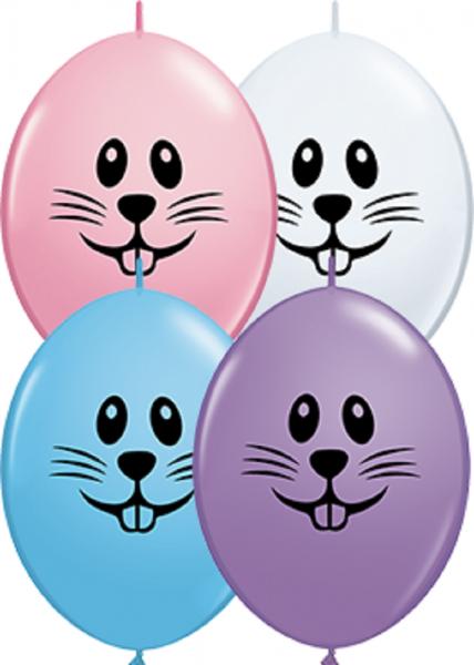 QuickLink Luftballons Bunny Face Special Sortiment - 15cm