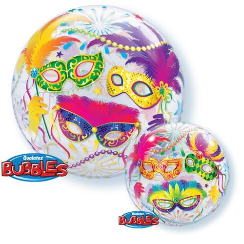 Qualatex Luftballons Bubbles Fasching - Mardi Gras