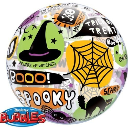 Qualatex Bubble Luftballons Halloween Messages and Icons