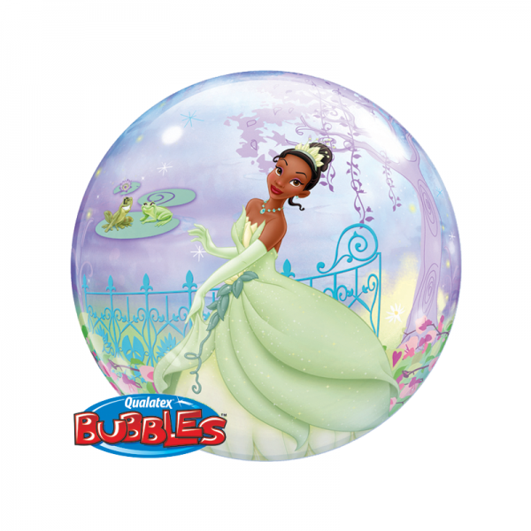 Qualatex Bubble Luftballons Princess Tiana and the Frog - 61cm
