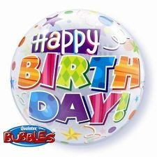 "Qualatex Bubble Birthday Party Patterns 22"" 56cm Luftballon"