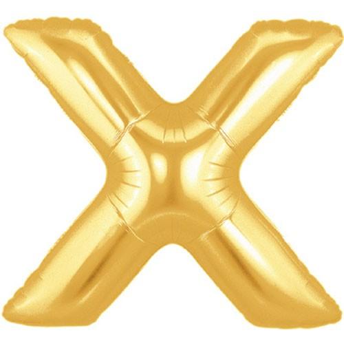 Buchstaben X gold Folienballon