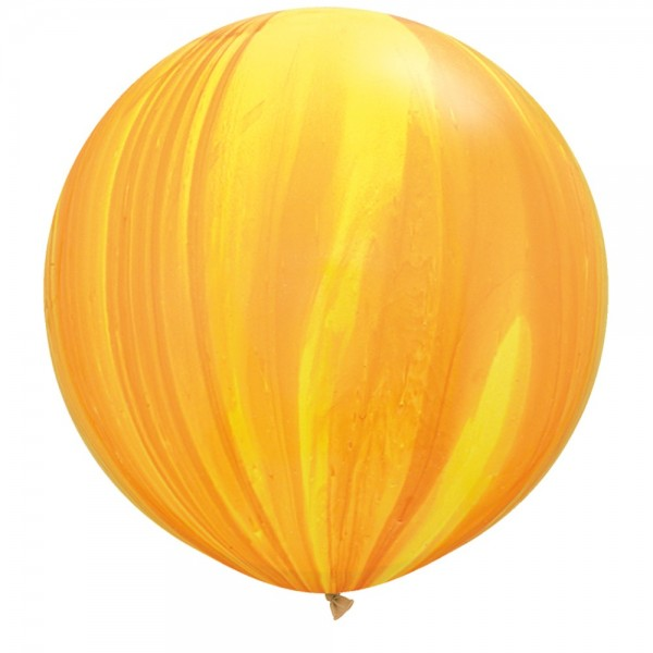 Riesenluftballon Yellow Orange (Gelb Orange) SuperAgate Latex Ballons 75cm