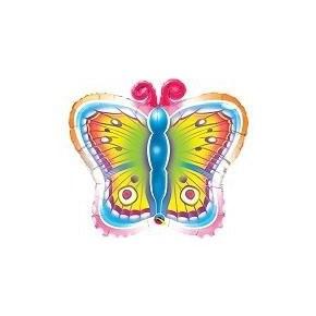 bunter Jumbo Schmetterling Folienballon - 66cm