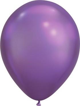 Latex Luftballons Chrome Purple (lila) 100St. - 27,5 cm