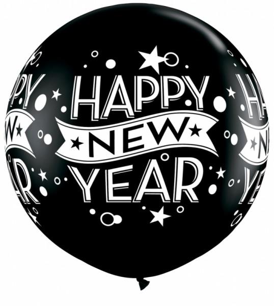 """Riesenluftballon Happy new year Confetti (Silvester) 90cm 36"""""""