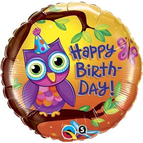 Happy Birthday Geburtstags Eule Folienballon