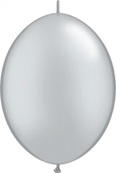 QuickLink Luftballons Metallic Silver - 15cm