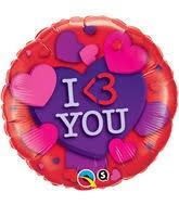 I love you Folienballon - 45cm
