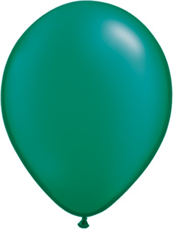 "Qualatex Pearl Emerald Green Smaragdgrün 27,5cm 11"" Latex Luftballons"