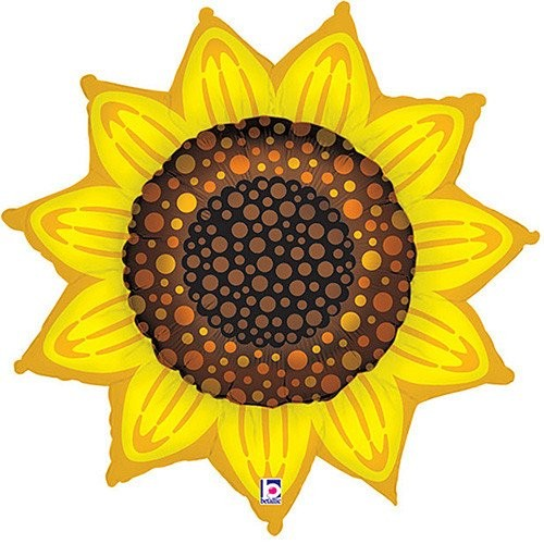 Sonnenblume Folienballon - 107cm