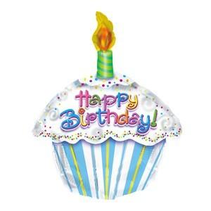 Mini Folienballon Geburtstagstorte - 35cm
