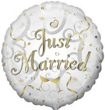 Just Married rund - 45cm