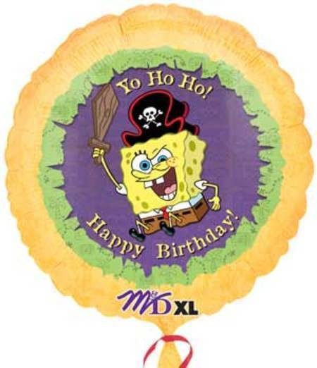 Happy Birthday Pirate Spongebob Folienballon