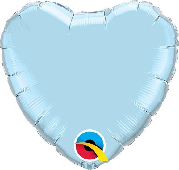 Mini Folienballon Herz hellblau - 23cm