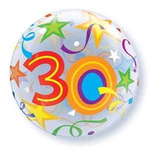 """Qualatex Bubble Brilliant Stars 30 22"""" 56cm Luftballon"""