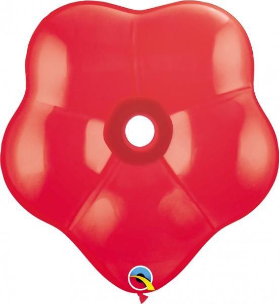 GEO Blossom Luftballons Standard Red (Rot) - 41 cm