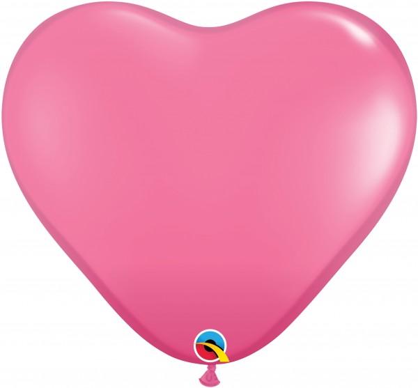 Riesenluftballon Herz Fashion Rose (Rosa) 90cm
