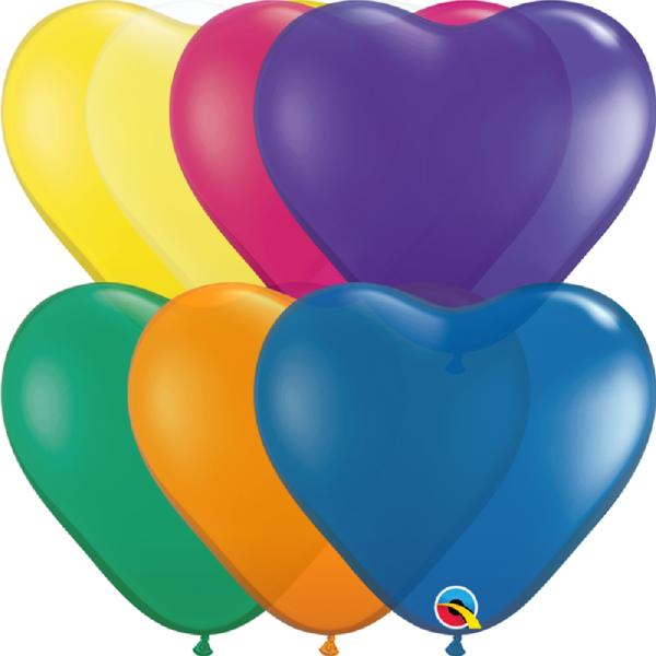 "Qualatex Herz Jewel Sortiment 15cm 6"" Latex Luftballons"