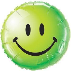 Smiley face grün Folienballon - 45cm