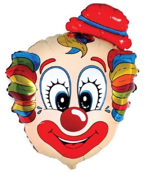 Clown Kopf Folienballon - 56 x 75cm