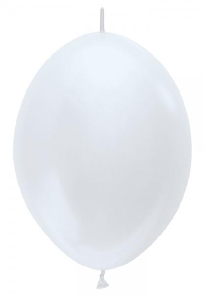 "Link o Loon 405 Satin Pearl White (Weiß) 30cm 12"" Latex Luftballons Sempertex"