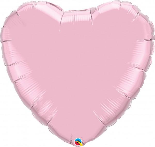 Folienballon Herz Pearl Pink (Pink) - 90cm
