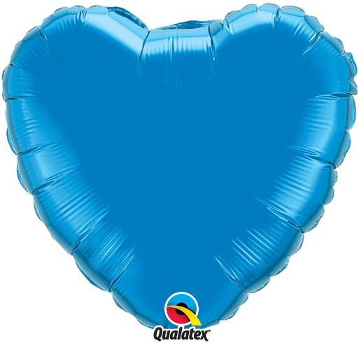 Folienballon Herz Sapphire Blue Blau