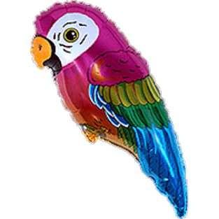 bunter Papagei Folienballon - 89cm