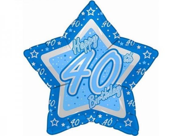 40.Geburtstag Stern Folienballon - 53cm