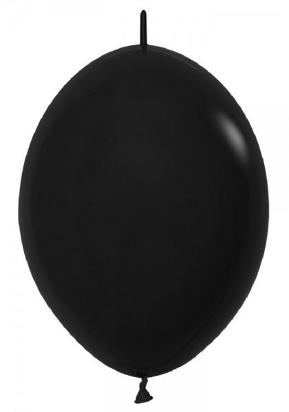"""Link o Loon 080 Fashion Black (Schwarz) 30cm 12"""" Latex Luftballons Sempertex"""