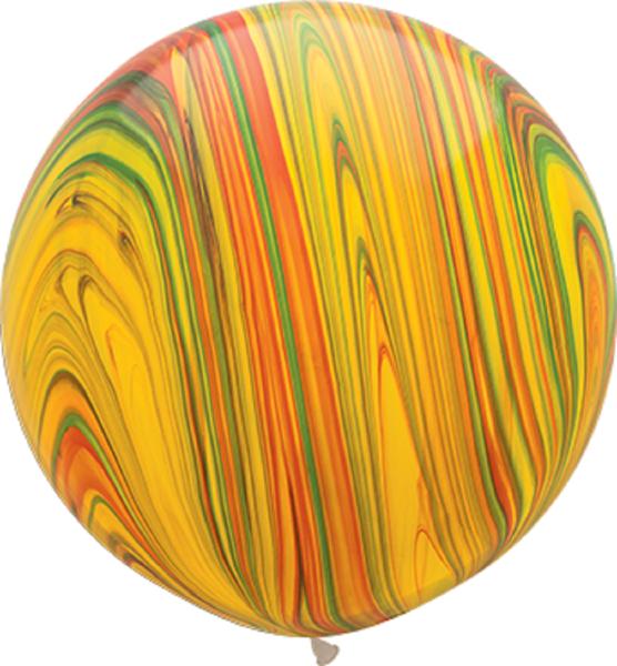 "Qualatex SuperAgate Traiditional marmoriert 75cm 30"" Latex Luftballons"