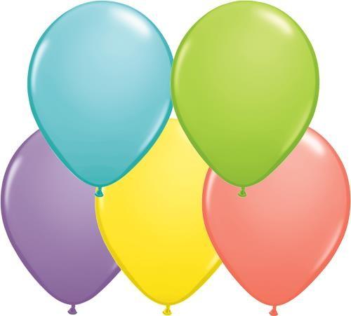 "Qualatex Assortment Sorbet (bunt gemischt) 27,5cm 11"" Latex Luftballons"