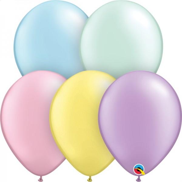 "Qualatex Assortment Pastel Pearl (bunt gemischt) 27,5cm 11"" Latex Luftballons"