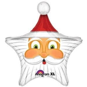 Weihnachtsmann Gesicht Stern Folienballon
