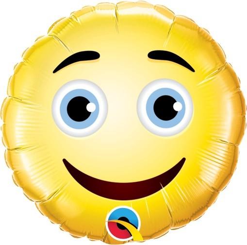 Mini Folienballon Smiley Face - 22,5cm