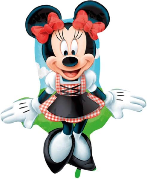 Minnie Maus im Dirndl Folienballon - 45 x 71cm