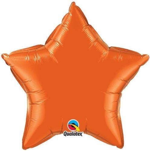 Stern Orange Folienballon - 50cm - Qualatex