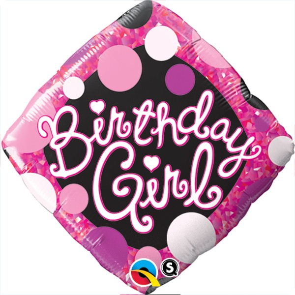 Happy Birthday Girl Mädchen Folienballon - 45cm
